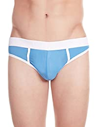 La Intimo Men's Nylon Spandex Power Net Bikini (LIMB003BE0_Blue_Small(28-30Inch))