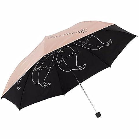 Anti-UV UPF50 + Vinyl trois fois crayon parapluie ensoleillé,couleur de peau