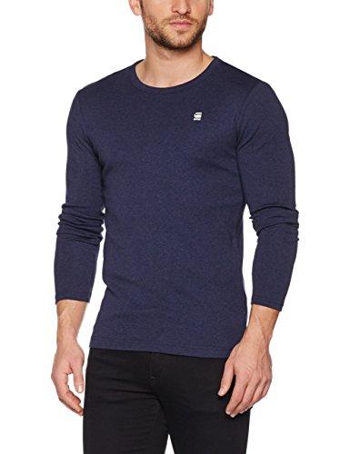 G-STAR RAW Herren Langarmshirt Dill R T L/S, Blau (Sartho Blue Htr 6370), X-Large (T-shirt Graphic L/s)