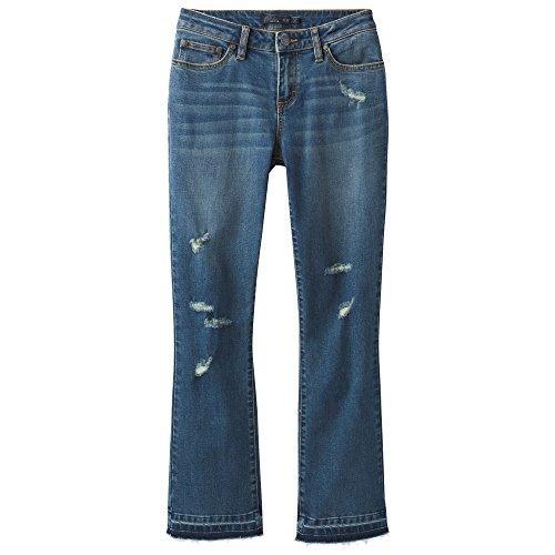 prAna CIA zugeschnitten Flare Pants Distressed Antique Blue