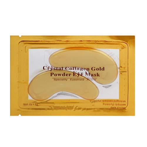 Masque pour les yeux,Fulltime 1pc Ride de vieillissement de collagène d'oeil sous l'anti masque de correction de gel de cristal (Jaune)
