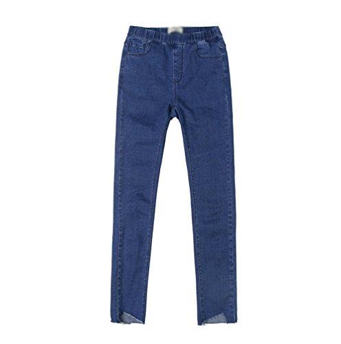 CHENGYANG Donne Stretch Slim Fit Matita Pantaloni A Vita Alta Jeans Denim Leggings Pantaloni Scuro Blu