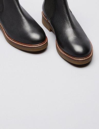 FIND Damen Chelsea Boots Schwarz (Black)
