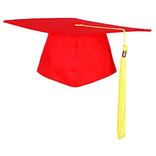 College Kostüm Junge Gute - Decha Studenten Bachelorhut College Uni Diplom Hut Abschlussfeier Doktorand Abitur mit Quaste Schwarz