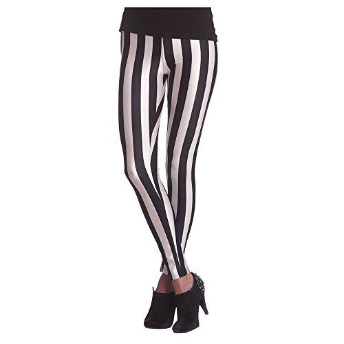 Orlob NEU Leggings gestreift, schwarz-weiß, Größe