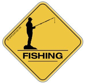 FISHING, FISHER, ANGLER MIT ANGEL CROSSING #2 Aufkleber Autoaufkleber Sticker Vinylaufkleber Decal -