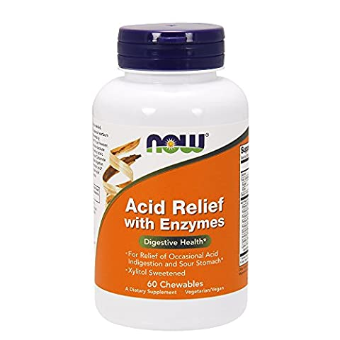 Now Foods Acid Relief with Enzymes, 60 chewables