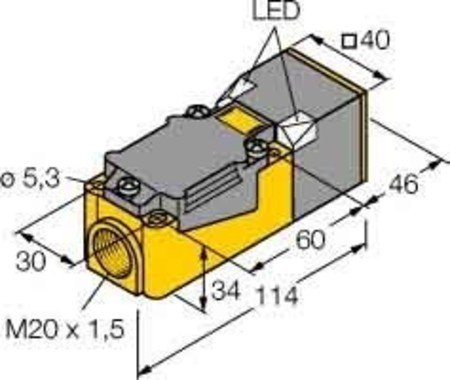Turck Sensor,ind. Quad. 40mm NI40U-CP40-VP4x2 DC,antival,sn=40mm Induktiver Näherungsschalter 4047101073515