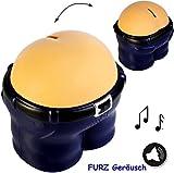 alles-meine.de GmbH Spardose - Sound & GERÄUSCH -  Hintern mit Furzgeräuschen  - beim Geldeinwerfen - stabile Sparbüchse Sparschwein - Geld Sparschwein / Kunststoff - Furz Kass..
