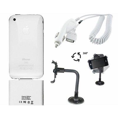 Apple iPhone 3G 3GS Zubehörpaket weiß - über 35% SPAREN