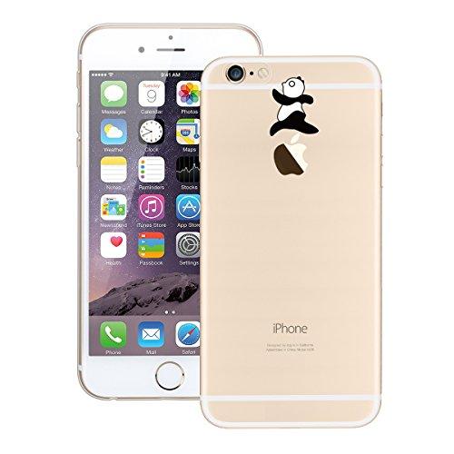 Custodia iPhone 6/6S, GrandEver Morbido TPU Custodia Cover Cristallo Limpido Trasparente Gel Silicone Anti Scivolo Case Protezione Posteriore Cover Antiurto per iPhone 6/6S - Panda Modello 7 Panda Modello 3