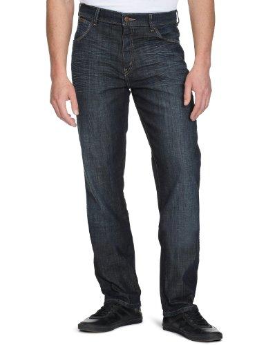 Wrangler Herren Jeans Texas Stretch, Gr. 30/34, Blau (Wrangler Elastische Taille Jeans)