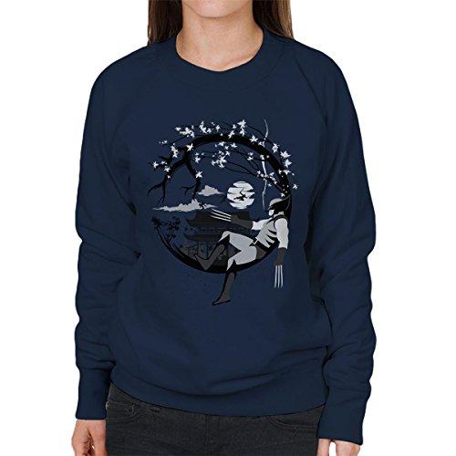 Wolverine Circle Women's Sweatshirt Navy blue