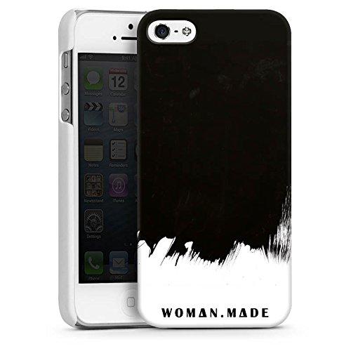 Apple iPhone 5s Housse Étui Protection Coque Motif Motif Peinture CasDur blanc