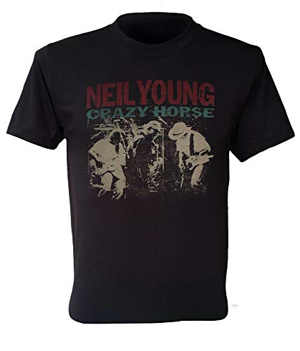 Neil Young Crazy Horse t-Shirt Vintage Concert Retro Rock Band S to 5XL (Young Crazy Neil)