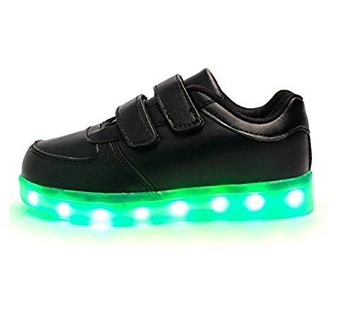(Present:kleines Handtuch)JUNGLEST® 7 Farbe USB Aufladen LED Leuchtend Sport Schuhe Sportschuhe High Top Sneaker Turnschuhe für Unisex-Erwa c25 h8O9r1qRue
