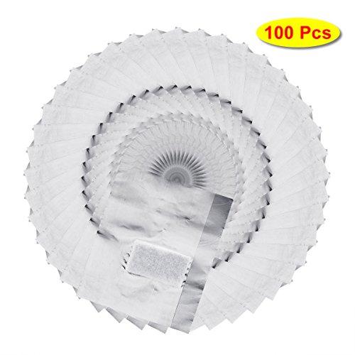 Freebily 100 Stück Aluminiium Folie Nail Wraps/Nagelfolien Tränken Weg Gelpoliermittel Entferner Werkzeug mit Wattepad