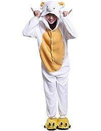 72b689aa5f URVIP Unisex Festliche Anzug Flanell Pyjamas Trickfilm Jumpsuit Tier Cartoon  Fasching Halloween Kostüm Sleepsuit…