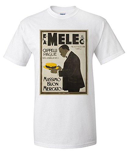 mele-and-ci-cappelli-paglie-vintage-poster-artist-laskoff-italy-c-1902-premium-t-shirt