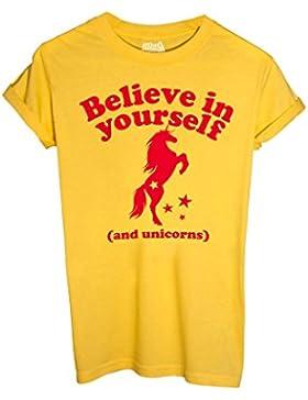 T-Shirt UNICORNI FANTASY, CREDI IN TE STESSO - FUNNY by iMage Dress Your Style
