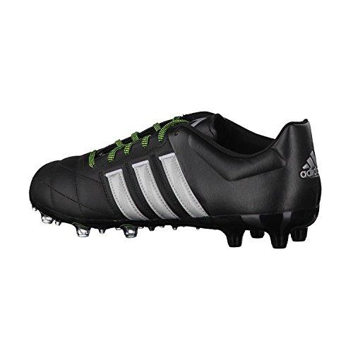 adidas Performance Ace15.2 Fg/Ag Leather Herren Fußballschuhe core black/silver met./solar yellow