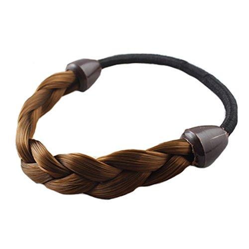 10PCS Mädchen mit geflochtenem Haar Gummibänder Haargummis Haarband, Kaffee