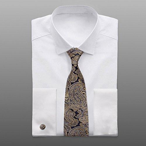 YABCB01 HochzeitsfestPaisleyJacquardwebstuhlSilk Krawatten für Verbindung  Durch Y G YABB0010Blau, Gold Gold