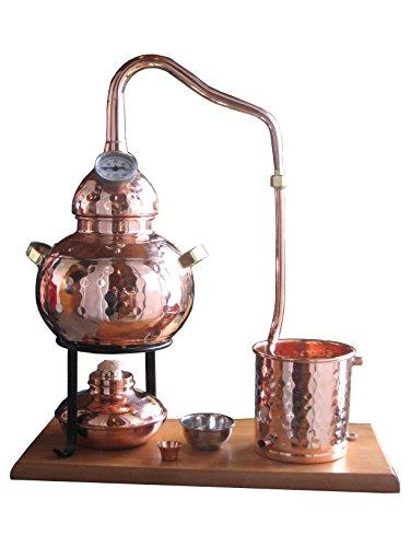 Dr. Richter destillier Anlage alambique Classico con termómetro (2l). Destilación para Destilación de agua/Planta Agua