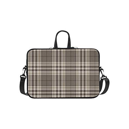 Schottisches Karo-muster (Schöne braune Gitter Muster Aktentasche Laptoptasche Messenger Schulter Arbeitstasche Crossbody Handtasche für Geschäftsreisen)