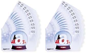 Amazon.co.uk £5 Gift Cards - 20-Pack (Christmas Globe)
