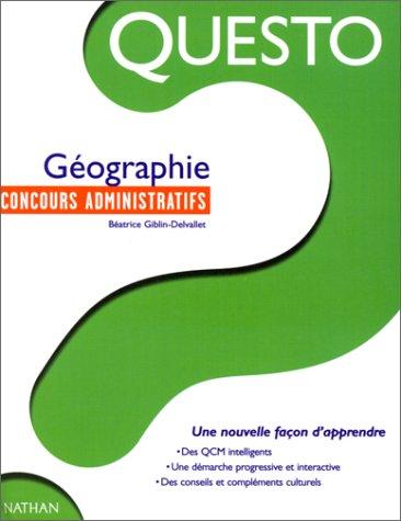 Questo. Géographie. Concours administratifs