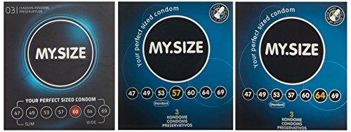My.Size Kondome, 3er Probierset (je 3x 57, 60, 64mm)