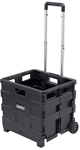 Draper DIY-FBT - Caja de herramientas  (plástico y aluminio, 43 x 41 x 10 cm), color negro
