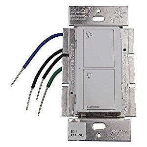 Lutron pd-5ws-dv-wh caseta Kabellose 5Amp Beleuchtung und 3Fan RF auf/aus Lichtschalter, Weiß (Lutron Beleuchtung)