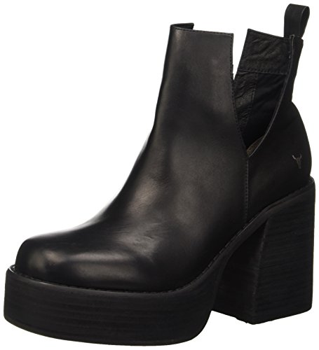 Windsor Smith Listen, Scarpe a Collo Alto Donna, Nero (Black Leather), 39 EU