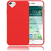 custodia iphone 7 rossa silicone