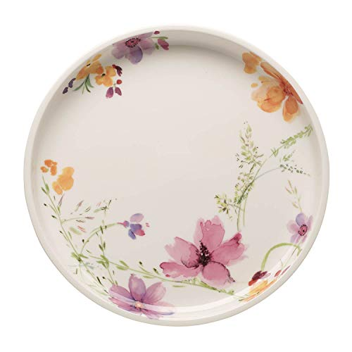 Villeroy & Boch Mariefleur Basic Plat de service, 30 cm, Porcelaine Premium, Blanc/Multicolore