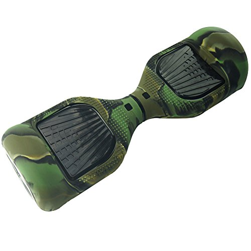 Housse Silicone 6.5″ Hoverboard Silicone Coque Étui Souple Scooter 2 Roues Anti-Choc Anti-dérapant – Camo