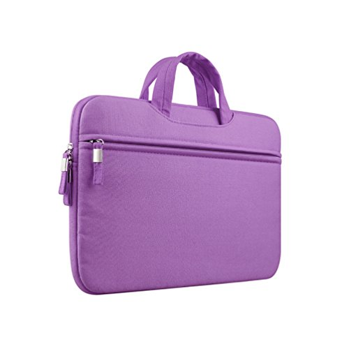 YiJee Tela Custodia Borsa Ventiquattrore Cartella Involucro Sleeve Case per Computer Portatile / Macbook Pro Air da 11-15 Pollici 15 Inch Porpora