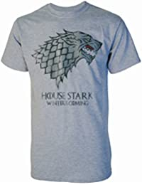 House Stark Winter Is Coming Game of Thrones Inspired Mens Grey T Shirt
