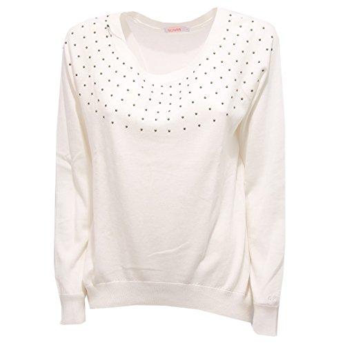 1550R maglia donna SUN68 maglie cotone panna borchie sweater women [L]