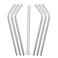 FashLady 2016 Whoelsale Eco Friendly 8Pcs Stainless Steel Metal Drinking Straw Reusable Straws + 3 Cleaner Brush Set New