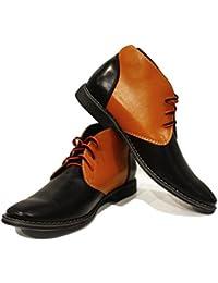 Modello Tado - 43 EU - Cuero Italiano Hecho A Mano Hombre Piel Naranja Zapatos Vestir Oxfords - Cuero Cuero Pintado a Mano - Encaje HAa2ylq