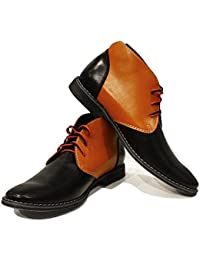 Modello Tado - 42 EU - Cuero Italiano Hecho A Mano Hombre Piel Naranja Zapatos Vestir Oxfords - Cuero Cuero Pintado a Mano - Encaje