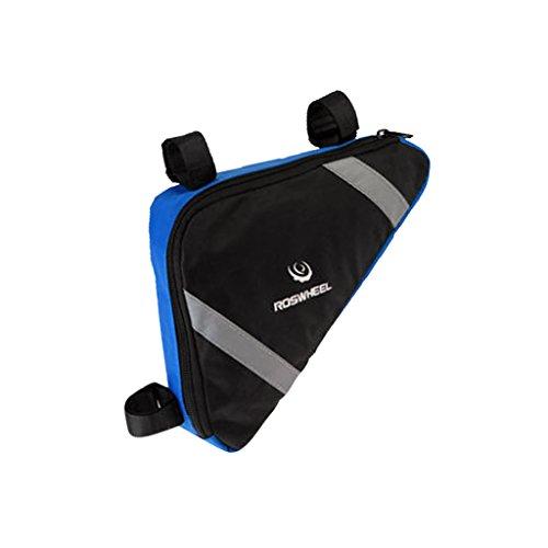 Fahrrad Rahmentasche, Dreieck-Form auf Steuerrohr Gepäcktasche, Sportlich und Praktisch, kann als Werkzeugtasche, Handytasche verwendet Blau