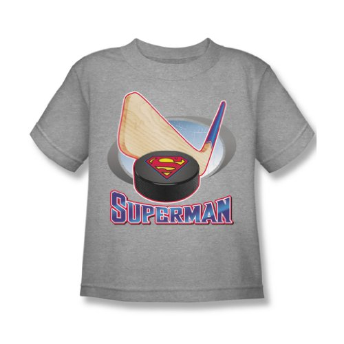 Superman - Hockey Stick Juvy T-Shirt in Heather, Large (7), Heather (Heather Juvy T-shirt)