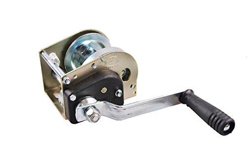 Preisvergleich Produktbild Anhänger Ladungssicherung Seilwinde Goliath Sicherheitsseilwinde 6AF bis 750kg selbst bremsend, Silber