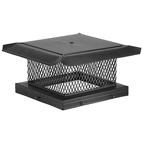 Chimney 14715 HomeSaver Black Chimney Cap - .625 Inch Mesh - 10 Inches x 17 Inches by Copperfield Chimney Supply