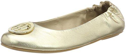 Tommy Hilfiger Damen A1285PPLETON 15Z Geschlossene Ballerinas, Gold (Mekong), 41 EU