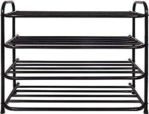 Patelraj Metal Book Stand (Jumbo Black, 4 Shelves)